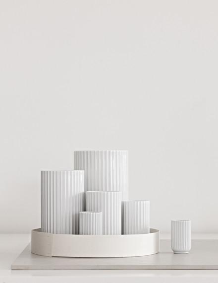 Lyngbyvasen i hvid fra Lyngby Porcelæn
