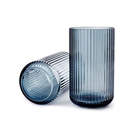 Lyngbyvasen blå glas fra Lyngby Porcelæn