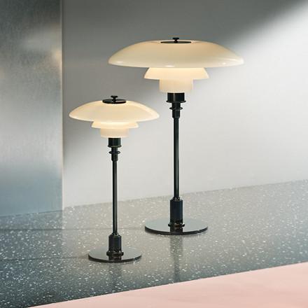PH 2/1 bordlampe, sort metalliseret fra Louis Poulsen