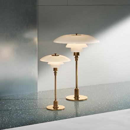 PH 2/1 bordlampe, messing metalliseret fra Louis Poulsen