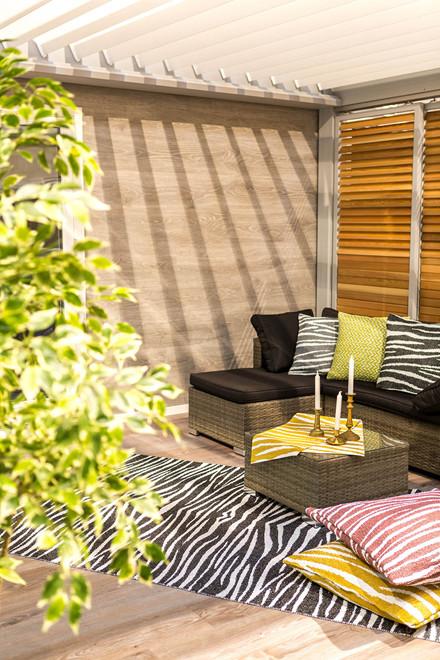 Zebra udendørstæppe fra Horredsmattan