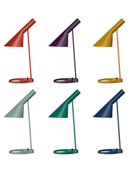 AJ bordlampe, nye farver fra Louis Poulsen