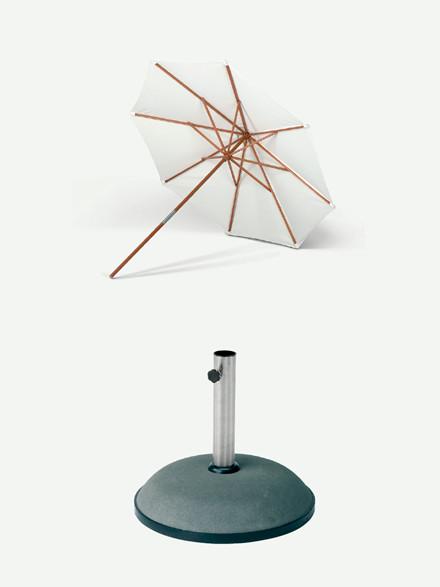 Tilbud på Catania parasol og fod fra Skagerak