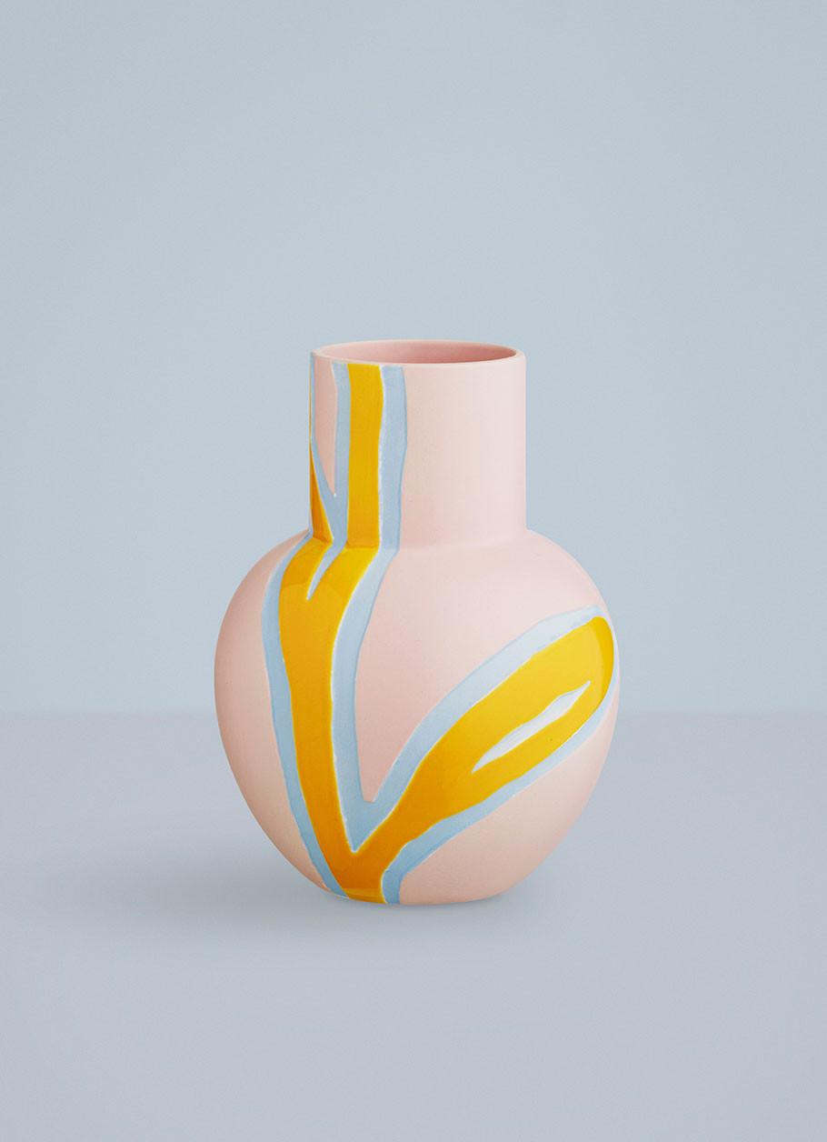 Fantastisk Fiora vase i pink | Køb Stine Goya vasen fra Kähler her LD09