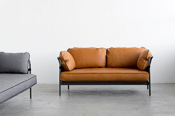 sofa læderlook 2 pers Hay sofa | Køb HAY Can 2 personers sofa her sofa læderlook 2 pers
