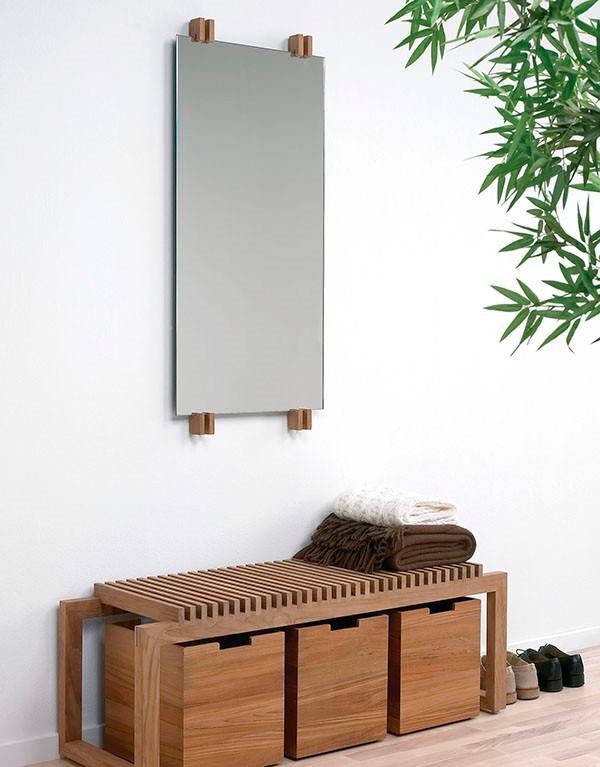 Skagerak Cutter spejl | Køb spejlet i teak, eg eller sort