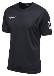 TTH ungdom hummel trænings t-shirt sort/hvid