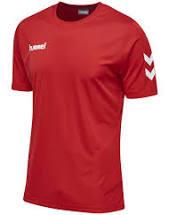 Hummel poly t-shirt rød