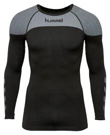 hummel first langærmet tætsiddende t-shirt sort