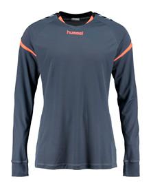 hummel aut charge LS t-shirt grå