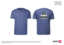 Holstebro Stykesport bomulds trænings t-shirt blå