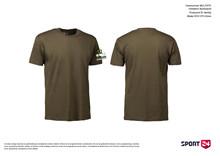 Holstebro Stykesport bomulds stævne t-shirt oliven