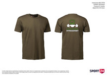 Holstebro Stykesport bomulds trænings t-shirt oliven