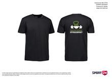 Holstebro Stykesport bomulds trænings t-shirt sort