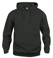Bøvling bomulds hoody sort