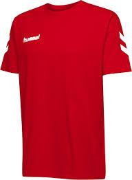 Hummel bomulds t-shirt rød