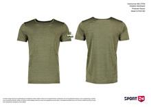 Holstebro Stykesport polyester t-shirt oliven