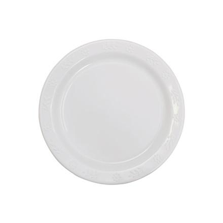 Tallerken plastik hvid 23 cm 50 stk