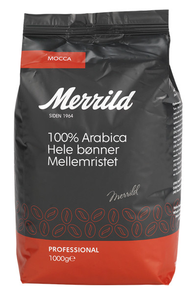 MERRILD MOCCA HELBØNNE, 1 KG