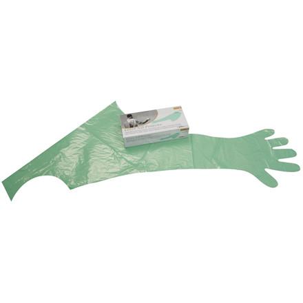 Handsker M/Halskrave Grøn 50 stk