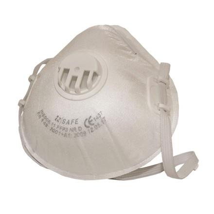 Beskyttelsesmaske FFP3 m/ventil 10 stk