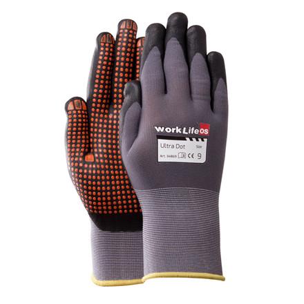 Handske Montage Flex m/dotter 10