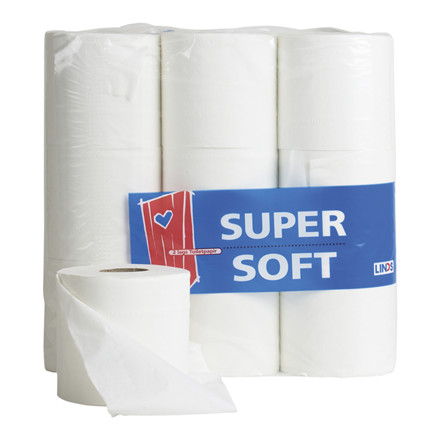 Toiletpapir LINDS Super Soft Svane 50m 9 rl