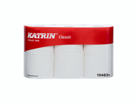 42 Ruller Toiletpapir Katrin Classic 400 2-lags 48m 42rul/ka