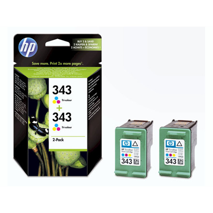 Blækpatron HP CB332EE 2-pack color no. 343 Vivera
