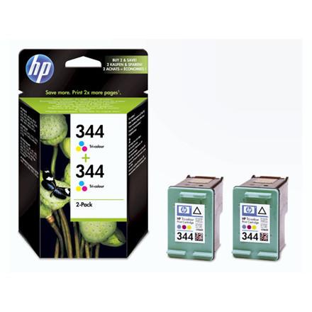 2 Stk Blækpatron HP C9505EE 2-pack color no. 344 Vivera
