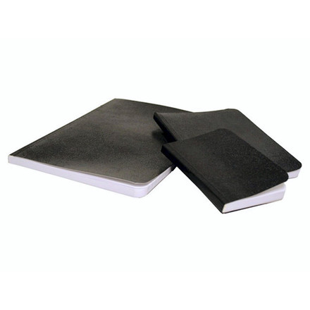 10 stk Notes m/sort voksdugbind lin. 105x74mm A7 72 bl. 5190