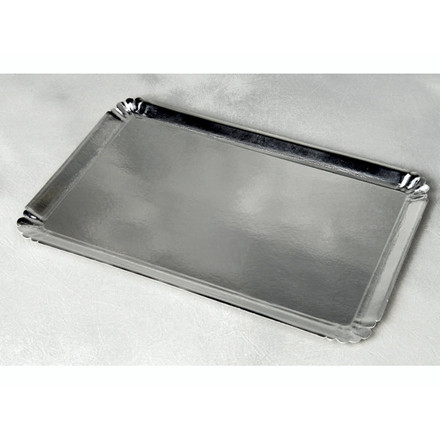Papfad sølv 42x28cm 25stk/pak