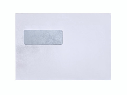 500 Stk Kuverter m/rude hvid 155x220mm M5 Mailman P&S 10192