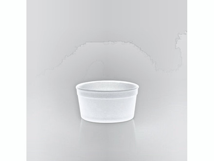 Termoskål hvid 240ml (8oz) 500stk/kar F8