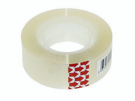 8 ruller Tape PP bnt/Office klar 19mmx33m