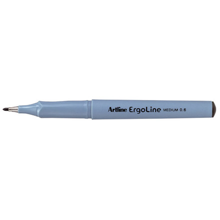 12 stk Fineliner Artline ERG3600 sort Ergoline 0,6mm
