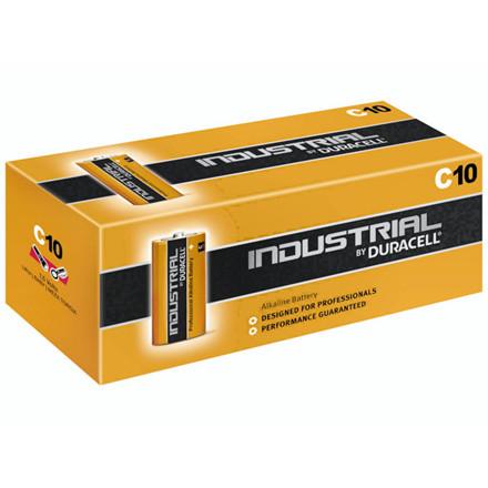 10 Stk Batteri Duracell Industrial C 10stk/pak LR14 / MN1400