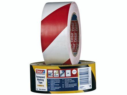 33 Meter 6 ruller Tape tesa markering gul/sort 48mmx33m 6076