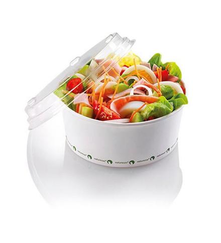 500 Stk Salatskål PLA 800ml hvid Ø148mmx60mm 500stk/kar