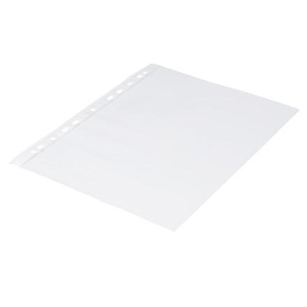 100 Stk Plastlomme 0,06mm A4 glasklar 100stk/pak Q-line m/hv