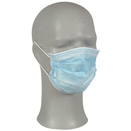 Ansigtsmaske m/øreelastik blå 50stk/pak