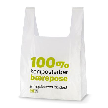 500 Stk Bærepose bioplast hvid 14my 280/70x500mm 500stk/ka