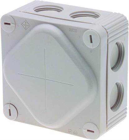 Forgreningsdåse grå IP66 85x85x47 mm