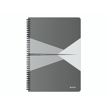 5 stk Notesblok Leitz Office karton grå A4 linjeret