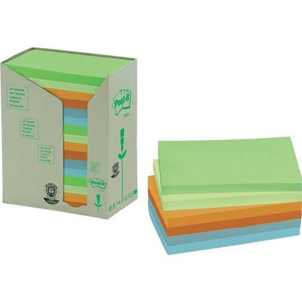 16 Blokke Post-it notes regnbuef. 76x127mm genbrug 16blk/pak