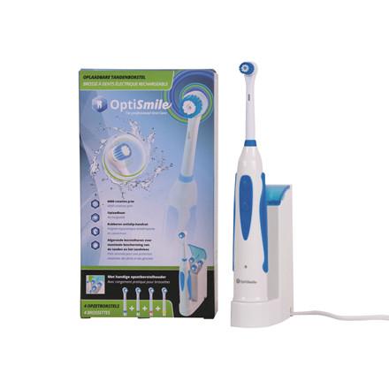 Tandbørste Elektrisk OptiSmile m/4 børster