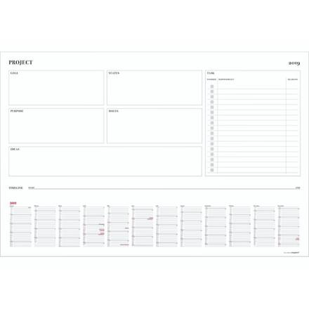 Whiteboard Project m/kalender 89x59cm 19 0646 00