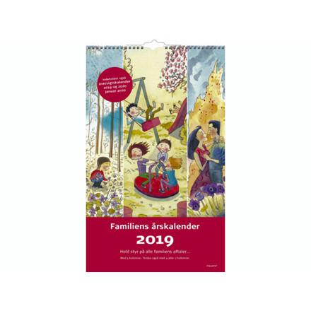 Familiens årskalender 5 kolonner m/illu. 29x48cm 19 0662 30
