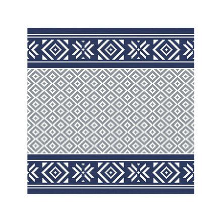Servietter Duni 33x33cm 3-lag Winter feeling blue 500stk/ka