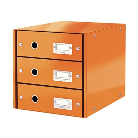 Skuffekabinet Click&Store 3 skuffer Leitz WOW orange